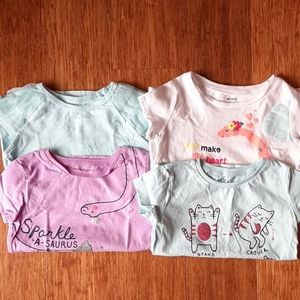 Set of 4 Carter's short sleeve shirts